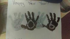 New year handprints