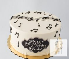 request a custom quote Please Note: This cake requires 10 days advance notice. If your order date is within 10 days, please call us at and we will see what we can do for you! Music Birthday Cakes, 30th Birthday Cakes For Men, Music Themed Cakes, Birthday Cake For Husband, Music Cakes, Birthday Cake Girls, Simple Birthday Cake Designs, Beautiful Birthday Cakes, Easy Cake Decorating