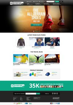 Cool and trendy design needed for an outdoor style webshop!! Website design #61 by T0RCH