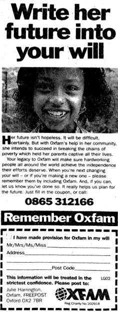 Oxfam. January 8, 1995