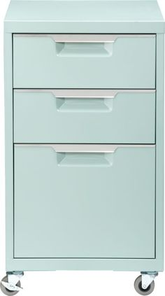 TPS mint file cabinet in office furniture | CB2  I have these as bedroom side tables in white. Love them.