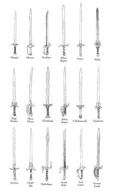 Weapons of FFTA - Rapiers by Bladedog