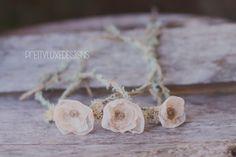 organic newborn tieback spring flower tieback by PrettyLuxeDesigns, $12.00