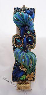 """Lo Scrigno dei Gioielli: """"Saphira"""" Bracelet Shibori....Workshop Roma 5/8 Novembre (Bead Embroidery con Shibori)"""