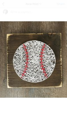 This listing is for a 9.25 x 9.25 rustic baseball sign made in string art! It would be the perfect addition to any sports lovers room