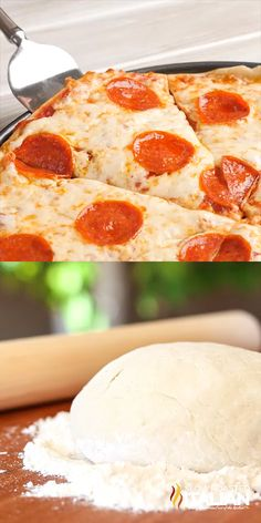 This pizza dough recipe is simple and delicious. It's perfect for a weeknight pizza and I have a ton of pizza ideas. Savory pizzas, bread sticks and dessert pizzas. You are going to love it! It's pizza Healthy Pizza Recipes, Paleo Recipes, Cooking Recipes, Paleo Pizza, Lunch Recipes, Healthy Pizza Dough, Dinner Recipes, Skillet Recipes, Cooking Gadgets