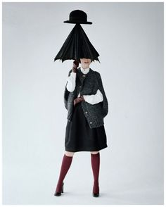 Audrey Marney by Tim Walker 2011 - umbrella