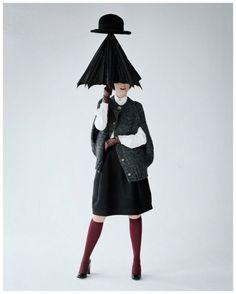Audrey Marney by Tim Walker 2011 - umbrella