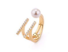 PARALLEL PEARL RING