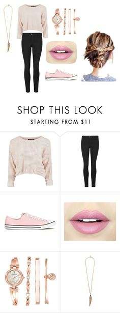 """""""Pink outfit"""" by souphiataghiakbari on Polyvore featuring Converse, Fiebiger, Anne Klein and Roberto Cavalli"""