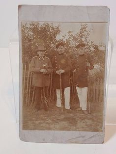 Vintage Antique US Police Officer Soldier Veteran Photo Post Card Ephemera Old