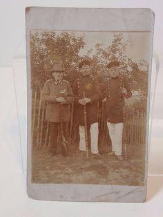 Vintage Antique US Police Officer Soldier Veteran Photo Post Card Ephemera Old