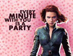 Black Widow's Valentine's Day Card