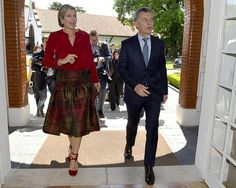 Oct. 12, 2016, Queen Maxima of the Netherlands attend a meeting with Argentinian President Mauricio Macri at residence Los Olivos in Buenos Aires, Argentina