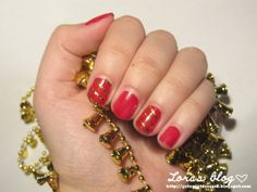 Lora in Nailwonderland: Getting ready for christmas | #4 Red and gold