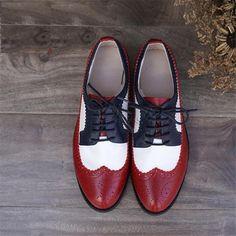 2017 Fashion - Genuine Leather Vintage Oxford Shoes