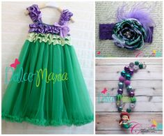 The+Little+Mermaid+Ariel+Princess+Dress++6M+to+7+by+DolceMariaCo,+$75.00