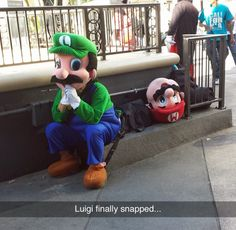 Luigi, no! We talked about this in our sessions! You're not living in Mario's shadow!