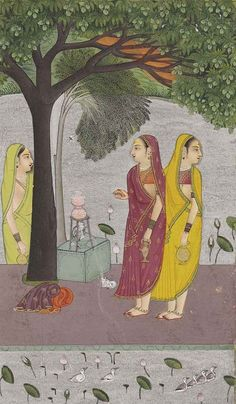 AN ILLUSTRATION TO A RAGAMALA: BHAIRAVI RAGINI. Opaque pigments on wasli heightened with silver and gold, RAJASTHAN, BUNDI, ca. 1760