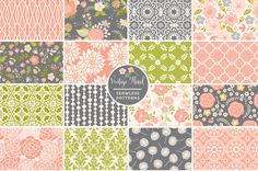 Vintage Floral Seamless Patterns - Patterns - 1