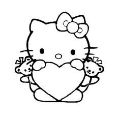 Kleurplaten Van Hello Kitty Zoeken.Valentijn Kleurplaten Hello Kitty Nvnpr