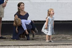 Royal cuteness: Princess Mary's twins Princess Josephine and Prince Vincent turned five on Friday (two-year-old twins pictured at Grasten Castle in 2013)