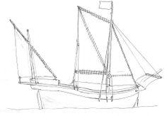 Espanjalaisten kehittämä laivatyyppi, karaveli, jolla on mahdollista luovia vastatuuleen.