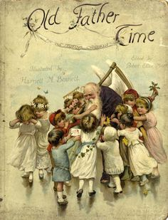 Old Father Time - (from vintage children's book, New Year)
