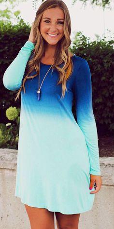 Ombre Color Dress