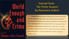 ***Coming soon*** WORLD ENOUGH AND CRIME***, (Carrick Publishing, Fall At Carrick Publishing, we're thrilled to be working once again with a group of Crime Fiction, Book Lovers, Mystery, Author, World, Books, Libros, Book, Writers