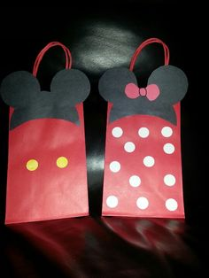Minnie and Mickey Mouse Gift Bags