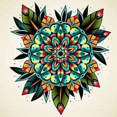 Tattoo idea.  I love the colors in this.  They really pop.