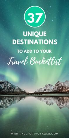 Travel bloggers share their top bucket list destinations for 2018 travel, including many unique and unheard of locations. If you're looking for some wanderlust inspiration for the new year, check out this awesome list of 37 of the best bucket list spots and start planning some brand new adventures! #bucketlist #travel #europe #asia #centralasia #southamerica #iceland #cuba