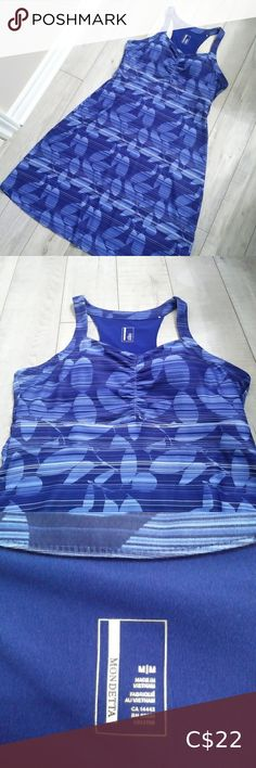 Mondetta Blue active dress Confortable sport dress Built-in bra with removable coups  Perfect for summer everyday wear or for a Day at the beach ! Mondetta Dresses Turquoise Dress, Tennis Dress, Leather Slippers, Tight Dresses, Shirts For Girls, Plus Fashion, Fashion Tips, Bra, Sport