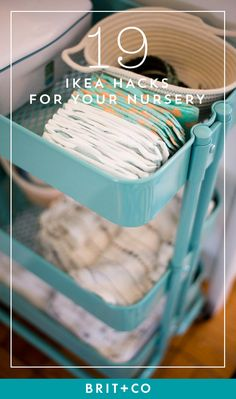 Save these IKEA hacks to make the most of the space in your nursery.