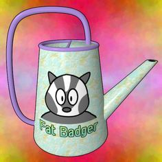 Fat Badger Watering Can / #Animal