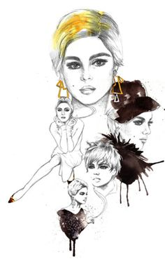 Edie Sedgwick illustration, Pencil and Ink by Chantel de Sousa. I absolutely freaking love love love this!!!