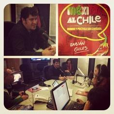 Varios instantes de la entrevista sobre @Mexicoalchile1 en @La Noche W