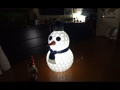 Снеговик из пластиковых стаканчиков | DIY SNOWMAN of CUPS - YouTube