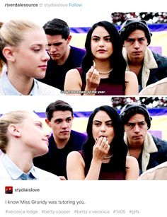 Betty's face in the second picture I'm SCREAMING