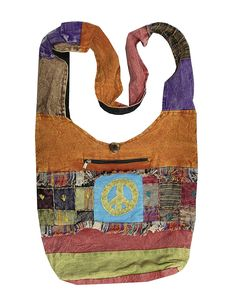 KayJayStyles Hobo Bohemian Recycled Patch Peace Crossbody Bag Nepal *** Find out more details by clicking the image : CrossBody Handbags
