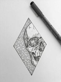 Super line art drawings skull ideas Tattoo Sketches, Tattoo Drawings, Drawing Sketches, Art Drawings, Sketch Art, Skull Tatto, Tatoo Art, Dot Work Tattoo, Dibujos Tattoo