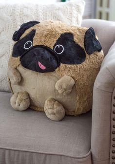 Plush One Pillow in Pug | Mod Retro Vintage Decor Accessories | ModCloth.com