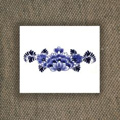 Large floral Dutch 'Delfts Blauw' temporary back by Tattoorary