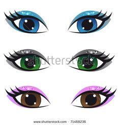 Find Set Cartoon Anime Eyes stock images in HD and millions of other royalty-free stock photos, illustrations and vectors in the Shutterstock collection. Eyes Clipart, Pencil Clipart, Tracing Art, Doll Face Paint, Clay Pot People, Eye Stickers, Imagenes My Little Pony, Cartoon Eyes, Female Eyes