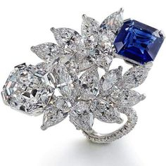 Kashmir Sapphire and D Internally Flawless Diamond Ring totaling 17.36 carats, handcrafted in Platinum.