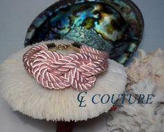 Light Rose Pink Nautical Silk Rope Infinite Knot Bracelet Adjustable