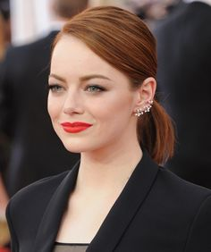Emma Stone's diamond Repossi ear cuff at the SAG Awards.