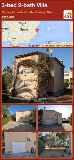3-bed 2-bath Villa in Calpe, Alicante (Costa Blanca), Spain ►€220,000 #PropertyForSaleInSpain