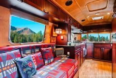 Inspired by the Colorado Rocky Mountains, this vintage 1971 Stardust Airstream was transformed by Timeless into a luxurious living space.